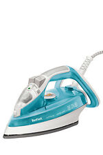 NEW Tefal FV4493 Ultraglide Eco, Auto Shut off Steam Iron: Blue/White
