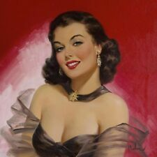 """Art Frahm, """"Woman Against Red"""", Open Ed Digital print, Image Size 18""""h x 18""""w"""