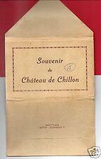 SOUVENIR DU CHATEAU DE CHILLON SWITZERLAND 15 POSTCARD FOLDER  G ANDEREGG BAZAR