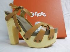 Flogg Size 7.5 M Rainbow Luggage Leather Open Toe Heels New Womens Shoes