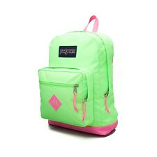 "NWT JANSPORT ""CITY SCOUT"" 15"" LAPTOP BACKPACK/BOOK BAG FLUORESCENT GREEN/PINK"