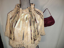 Victorian Dickens Edwardian theater costume stripe CAPE/ purse  accessories