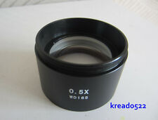 0.5X Stereo Microscope Barlow Auxiliary Attachment Objective Lens Free Shipping