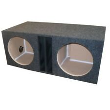 """12"""" inch DUAL SUBWOOFER BOX ENCLOSURE Ported Vented OBCON 1"""" MDF Face"""