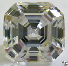 3 X 3 mm 0.20 ct ASSCHER Cut Sim Diamond, Lab Diamond WITH LIFETIME WARRANTY