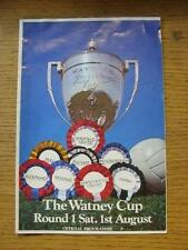 01/08/1970 Fulham v Derby County [Watney Cup] (team changes, folded). Item In ve