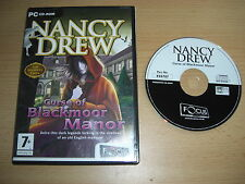NANCY DREW 11 - CURSE OF BLACKMOOR MANOR FO  Pc Cd Rom  FAST 1st Class DELIVERY