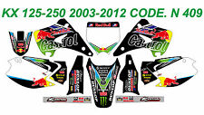 N 409 KAWASAKI KX 125-250 2003-2012 Graphics Decals Stickers Kit