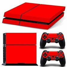 PS4 Skin & Controllers Skin Vinyl Sticker For PlayStation 4- Red