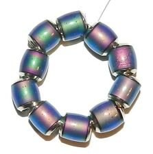 MC133L Color Changing Thermo Sensitive Sparkle Mood Bead 7mm Round Barrel 10pc