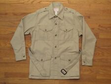VTG C.C. Filson Mens Size 44 Jacket Lightweight Tan Safari Hunting Style 53