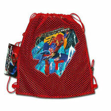 Sling Bag Tote Drawstring Net Mesh Marvel Hero Spiderman Red Black New