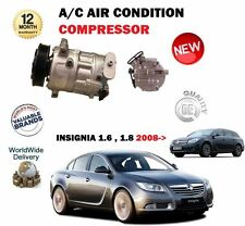 FOR OPEL VAUXHALL INSIGNIA 1.6 1.8 2008- NEW AC AIR CON CONDITIONING COMPRESSOR