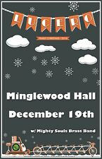 """LUCERO/MIGHTY SOULS BRASS BAND""""FAMILY CHRISTMAS 2014""""MEMPHIS CONCERT TOUR POSTER"""
