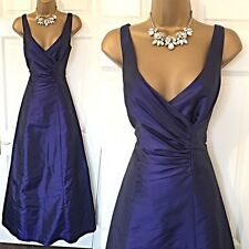 ROMAN DRESS SIZE 12 Navy Shimmer Cruise Party Gown RACES Occasion Evening,
