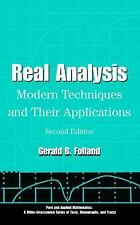 Real Analysis: Modern Techniques and Their Applications (Pure and Applied Mathem