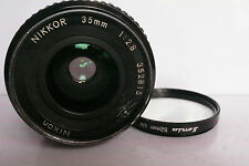 Nikon Nikkor Wide Angle 35mm f2.8 AI Manual Focus lens Sonia Filter.