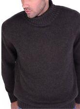Balldiri 100% Cashmere Rollkragen Pullover 10-fädig braun meliert XXL