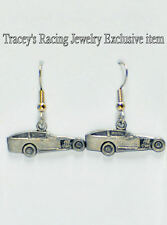 IMCA modified dirt track racing charm earrings auto Tracey's racing jewelry