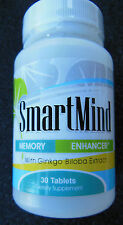 Natures Best Solution Smart Mind Memory Enhancer Ginkgo Biloba Extract 30 tabs