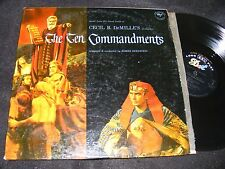 Deluxe Original DOT 2 LP 1956 The Ten Commandments SOUNDTRACK Elmer Bernstein
