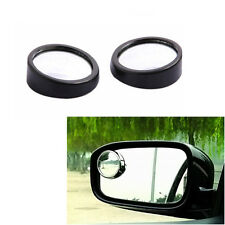 1Pair Car Adjustable Rearview Blind Spot Side Rear View Convex Wide Angle Mirror