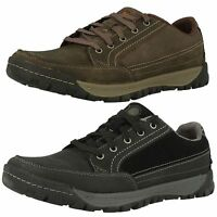 Mens Merrell Leather Lace-Up Trainers in Brown or Black - TRAVELER SPHERE