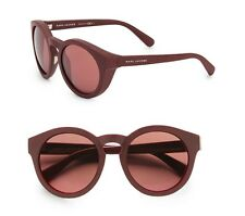 Marc by Marc Jacobs Women Authentic 52mm Round Sunglasses Burgundy BNIB
