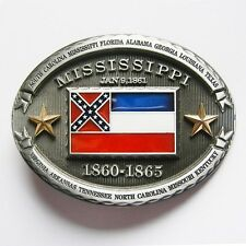 NEW HOSPITALITY MAGNOLIA STATE FLAG OF MISSISSIPPI BELT BUCKLE