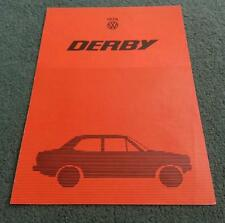 1978 VW DERBY UK COLOUR FOLDER BROCHURE Polo