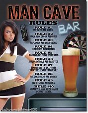 MAN CAVE Sign  Darts Beer Pub Signs Bar Signs Metal Signs Tin Signs 1713