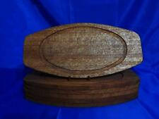 WOODEN STEAK FAJITA PLATTERS or TRAYS - Set of 6 - BEAUTIFUL VINTAGE CONDITION!