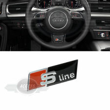 Oz Stock - Audi S Line Black Steering Wheel Badge Emblem Logo Decal A4 A5 A6 Q7