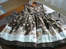 Angelic Pretty Brown Sweet Lolita Country of Sweets JSK Dress & Headbow Set Used