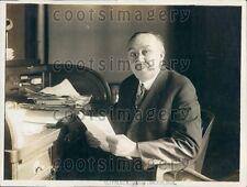 1918 Calvin Van Name President Borough of Richmond England Press Photo
