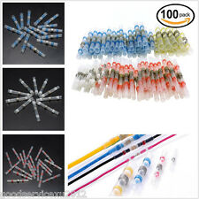 100 Pcs 4 Size 4 Color Car SUV Solder Sleeve Heat Shrink Tube Terminal Connector
