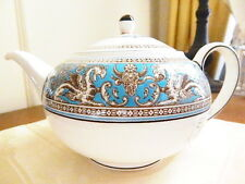 Wedgwood China FLORENTINE TURQUOISE Teapot - NEW!