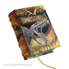 New Dinosaurios in spanish Legible Miniature Book hardcover with illustrations