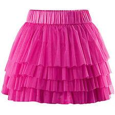 H&M Pink Ruffle Skirt Size 12 PreOwned Women Fashion Street Style Hot Pink Skirt