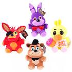 FNAF Five Nights at Freddy's Bear Chica Bonnie Foxy Kid Plush Doll Xmas Toy 7
