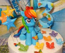 My Little Pony Rainbow Dash,Handmade,Birthday,Age,Stars,Cake Decoration