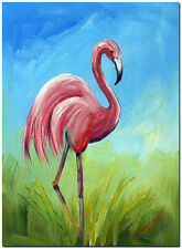 The Flamingo - Signed Hand Painted Wildlife Bird Oil Painting On Canvas