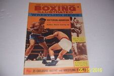 1960 BOXING Illustrated WRESTLING News JOHANSSON vs FLOYD PATTERSON Marciano