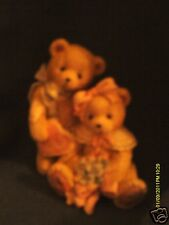 Cherished Teddies ^ OLIVER & OLIVIA   Will you be mine?  heart & bonnet   1993