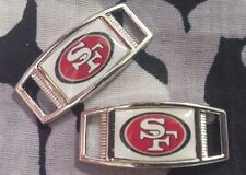 Set of 2 San Fransisco 49ers NFL Football Shoelace Charms For Paracord Projects