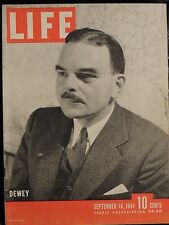 LIFE September 18,1944 Dewey / Fred & Adele Astaire / Battle of Mons / '44 Campa