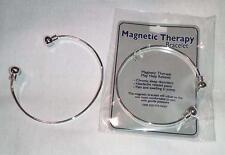 2 SILVER MAGNETIC BANGLE BRACELET jewelry JL374 natural health magnet bracelets