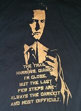 Twin Peaks T-Shirt, Large, Hand Printed, Stencil, Dale Cooper, Kyle MacLachlan