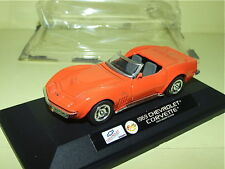 CHEVROLET CORVETTE CABRIOLET Orange 1969 FABBRI Neuf Sous Blister