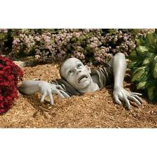 ZOMBIE STATUE DEAD WALKING GRAVE ESCAPING CORPSE OUTDOOR Macabre Monster Prop